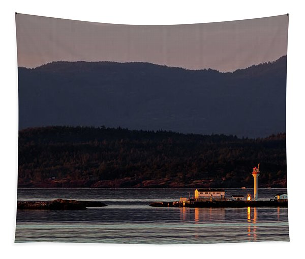 Isolated Lighthouse Tapestry