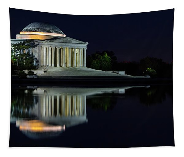 The Jefferson At Night Tapestry