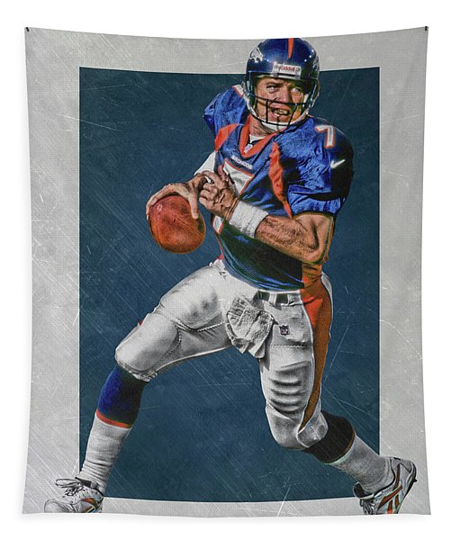 John Elway Denver Broncos Art Tapestry