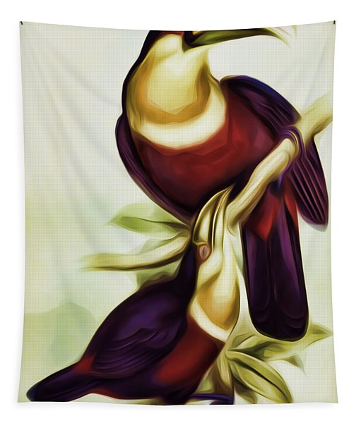 John Gould And Edward Lear Family Of Toucans Interpreted Tapestry