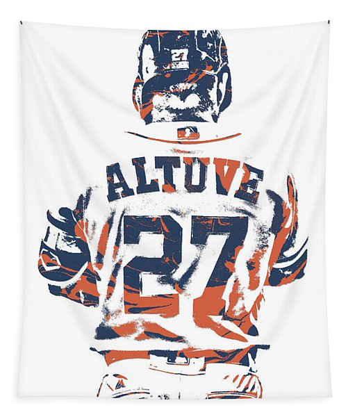 Jose Altuve Houston Astros Pixel Art 10 Tapestry