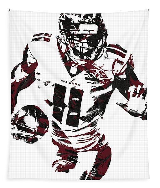 Julio Jones Atlanta Falcons Pixel Art 4 Tapestry