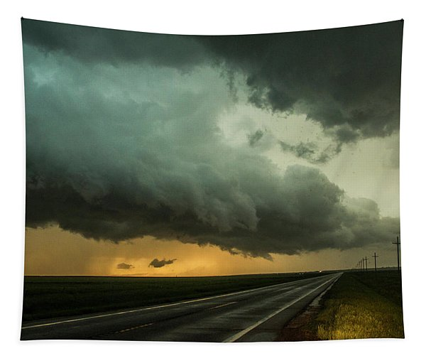 Tapestry featuring the photograph Kansas Storm Chase Bust Day 004 by NebraskaSC