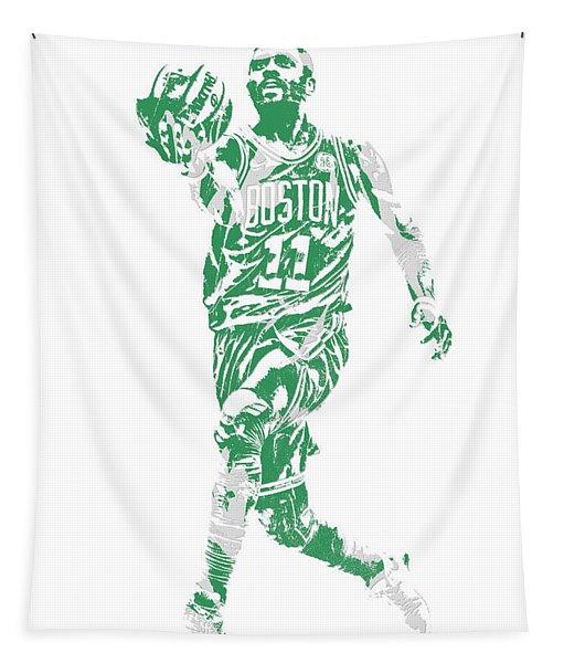 Kyrie Irving Boston Celtics Pixel Art 43 Tapestry