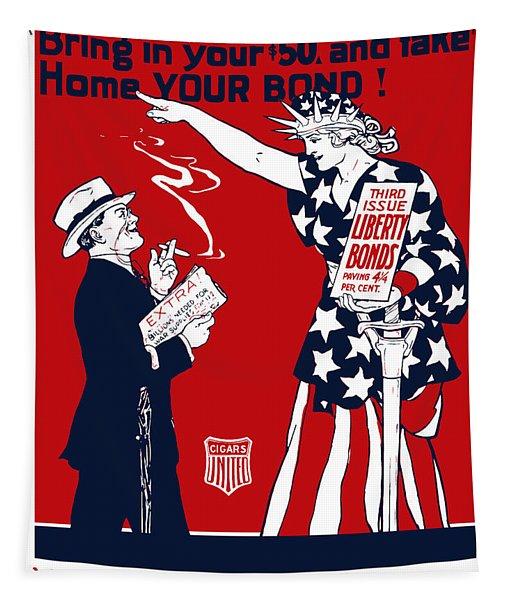 Lady Liberty War Bonds - Ww1 Tapestry