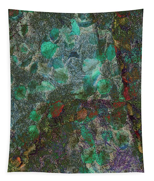 Leaf And Rock Composite 3 Tapestry