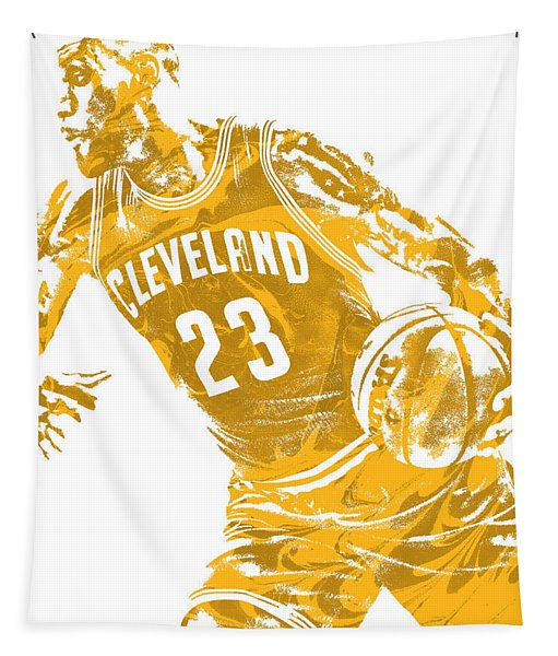 Lebron James Cleveland Cavaliers Pixel Art 20 Tapestry