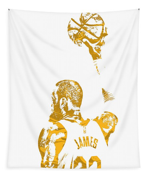 Lebron James Cleveland Cavaliers Pixel Art 71 Tapestry
