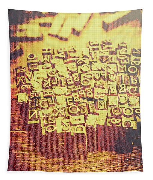 Letterpress Industrial Pop Art Tapestry