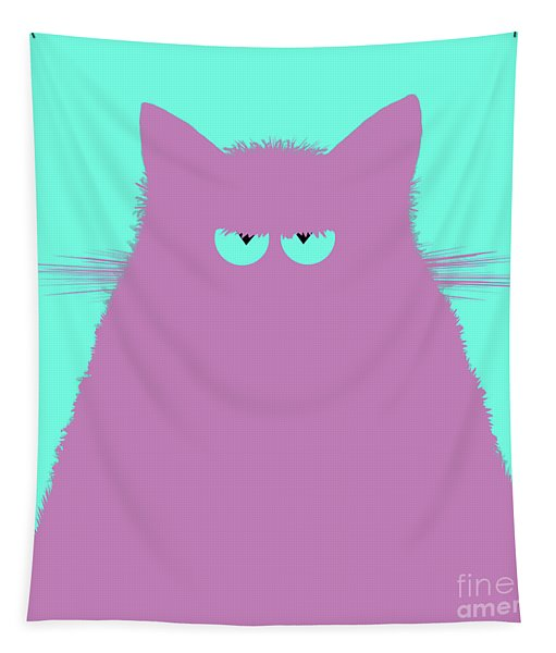 Lilac Cat Tapestry