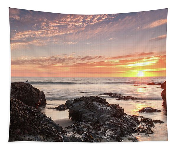 Lincoln City Beach Sunset - Oregon Coast Tapestry