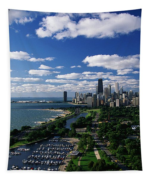 Lincoln Park And Diversey Harbor Tapestry