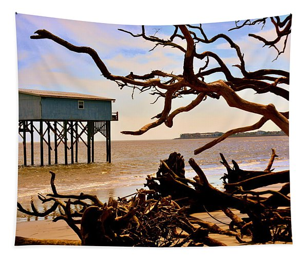 Little Blue Hunting Island State Park Beaufort Sc Tapestry
