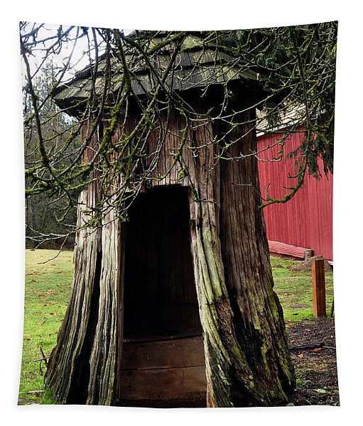 Loggers Outhouse Tapestry