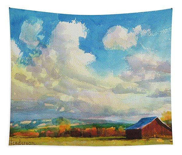 Lonesome Barn Tapestry