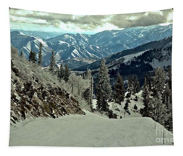 Looking Down The Great Western Slope Tapestry