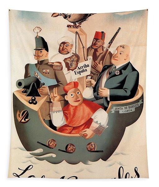 Los Nacionales - Ministerio De Propaganda - Vintage Propaganda Poster Tapestry