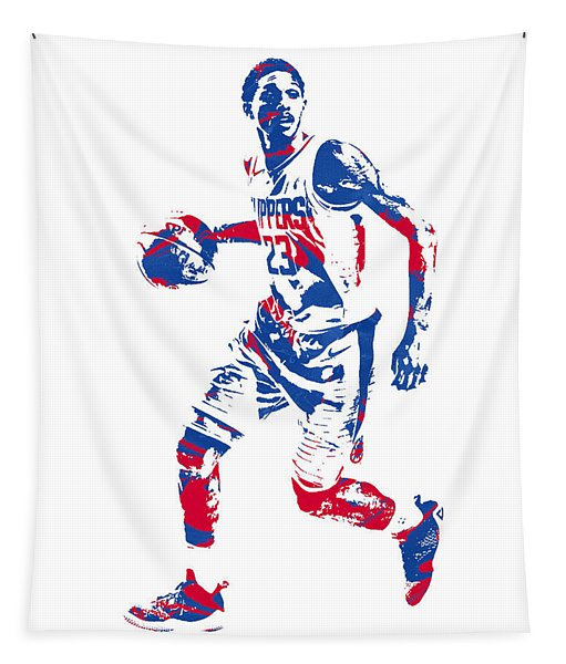 Lou Williams Los Angeles Clippers Pixel Art 10 Tapestry