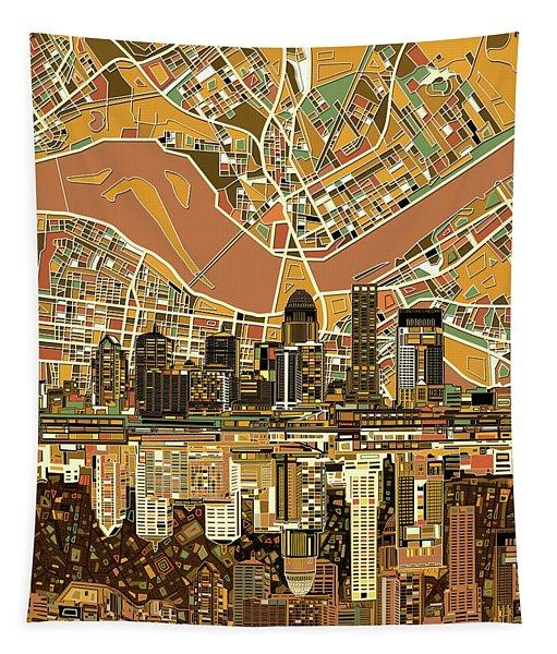 Louisville Kentucky Skyline Abstract 2 Tapestry
