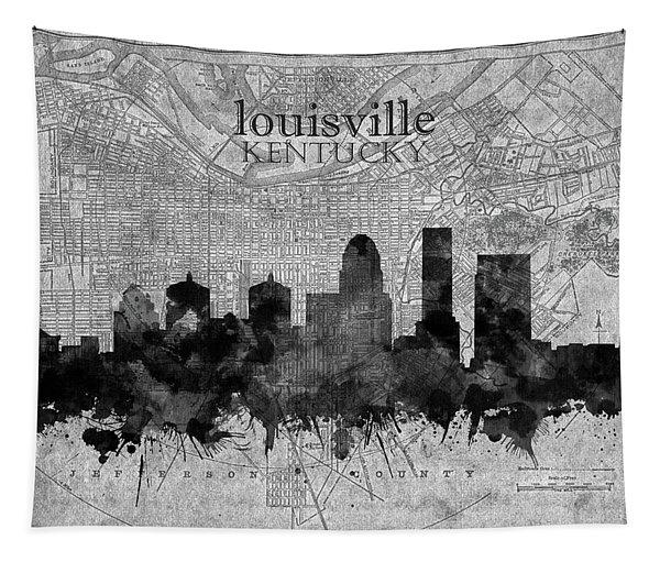 Louisville Kentucky Skyline Vintage 4 Tapestry