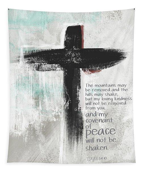 Loving Kindness Cross- Art By Linda Woods Tapestry