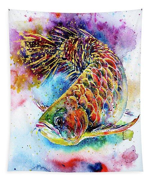 Magic Of Arowana Tapestry