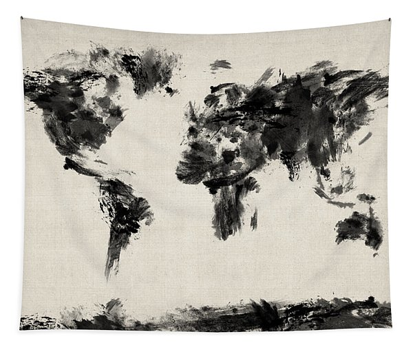 Map Of The World Map Abstract Tapestry