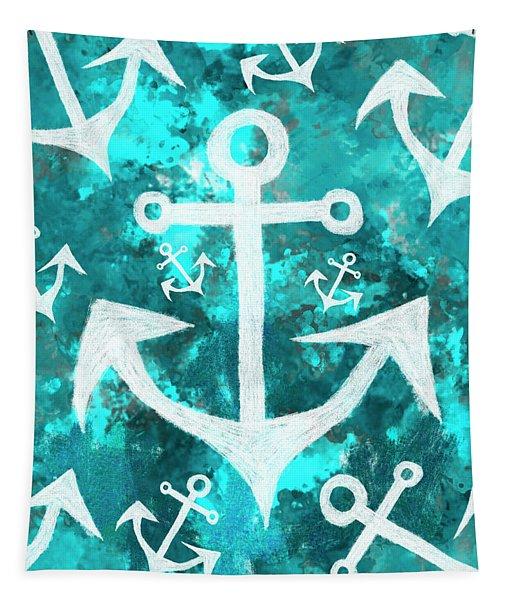 Maritime Anchor Art Tapestry