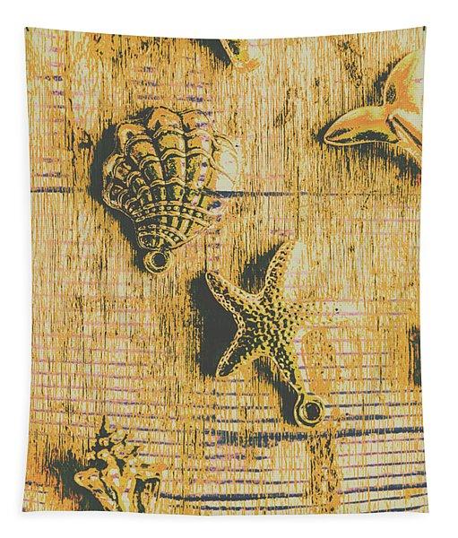 Maritime Sea Scroll Tapestry