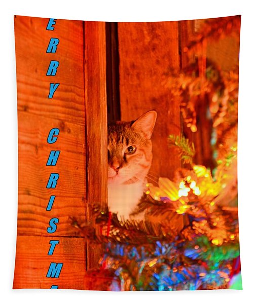 Merry Christmas Waiting For Santa Tapestry