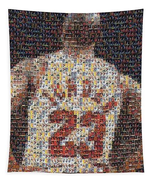 Michael Jordan Card Mosaic 2 Tapestry