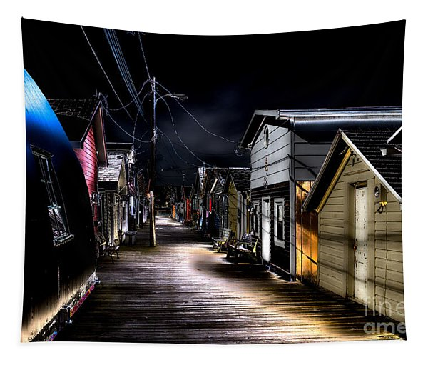 Midnight At The Boathouse Tapestry