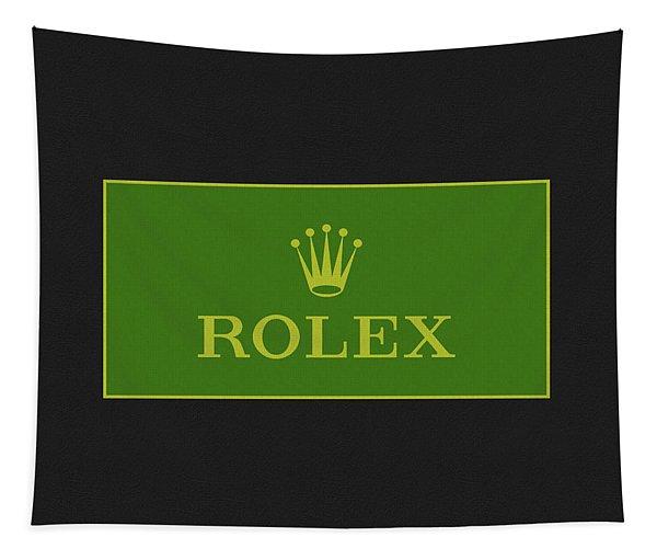 Minimal Rolex Logo Tapestry