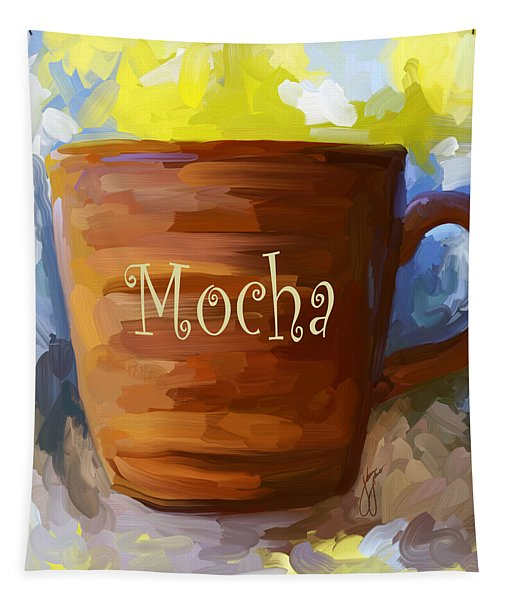 Mocha Coffee Cup Tapestry