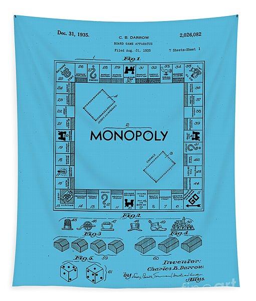 Monopoly Original Patent Art Drawing T-shirt Tapestry