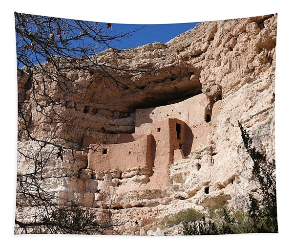 Tapestry featuring the photograph Montezuma Castle  by Christy Pooschke