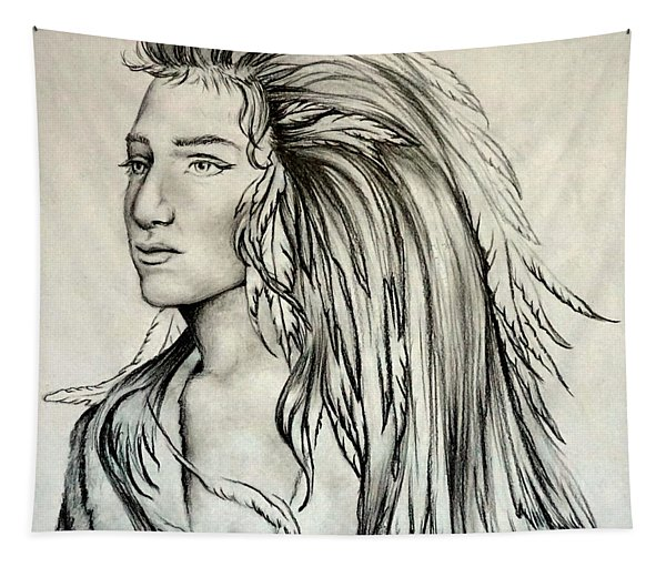 Native American Indian Girl Tapestry