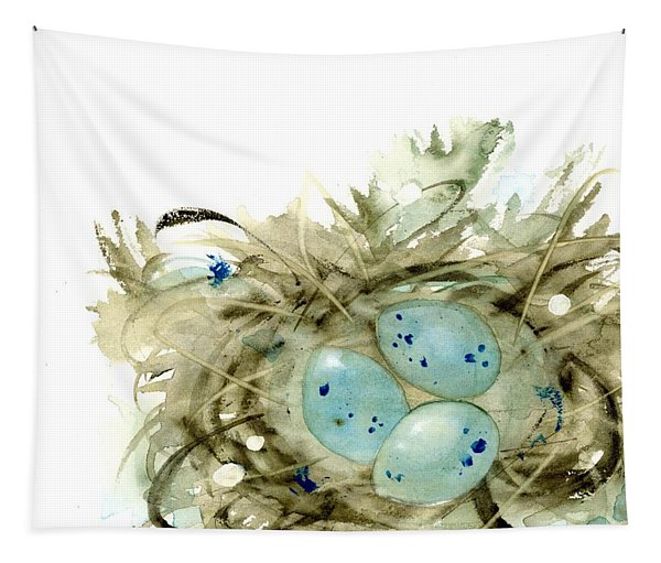 Nest And 3 Eggs Tapestry