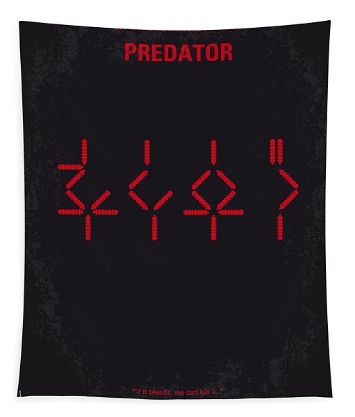No066 My Predator Minimal Movie Poster Tapestry