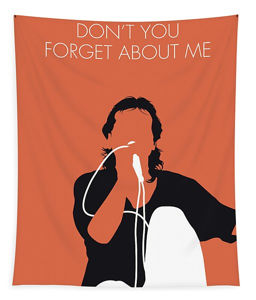 No193 My Simple Minds Minimal Music Poster Tapestry