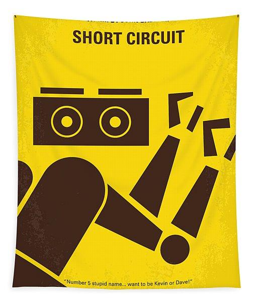No470 My Short Circuit Minimal Movie Poster Tapestry