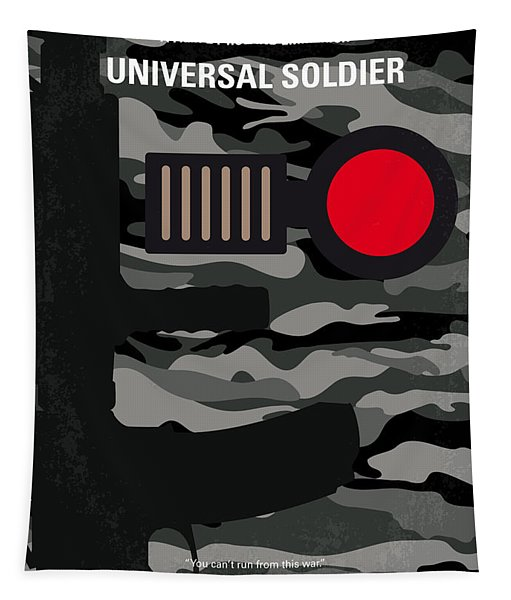 No523 My Universal Soldier Minimal Movie Poster Tapestry
