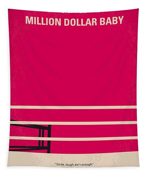 No613 My Million Dollar Baby Minimal Movie Poster Tapestry