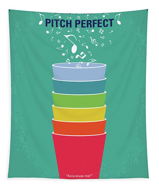 No660 My Pitch Perfect Minimal Movie Poster Tapestry