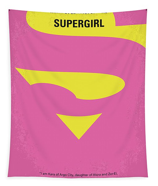 No720 My Supergirl Minimal Movie Poster Tapestry
