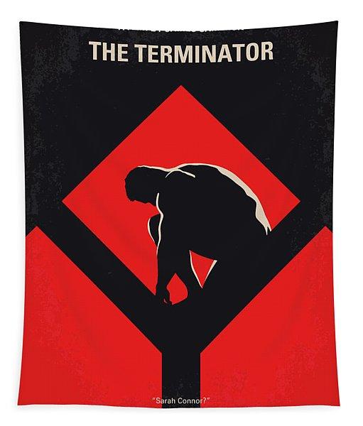 No802-1 My The Terminator 1 Minimal Movie Poster Tapestry