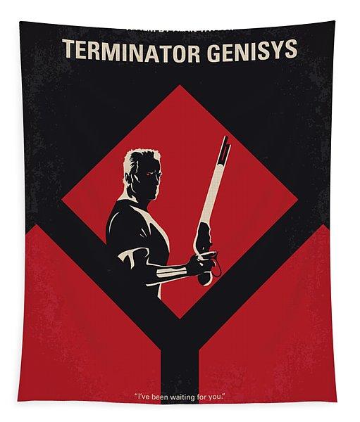 No802-5 My The Terminator 5 Minimal Movie Poster Tapestry