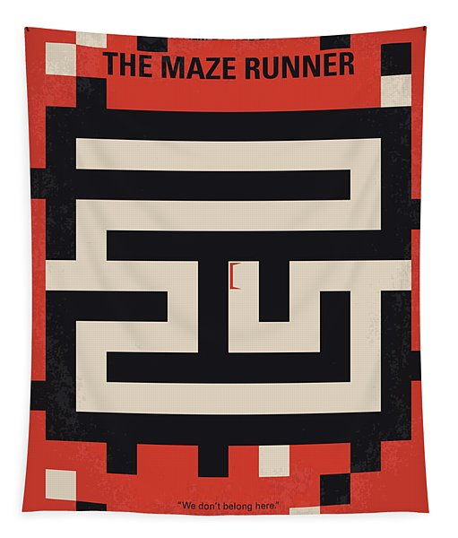 No837 My The Maze Runner Minimal Movie Poster Tapestry