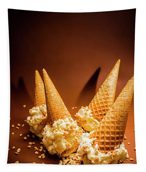 Nuts Over Ice-cream. Birthday Party Background Tapestry