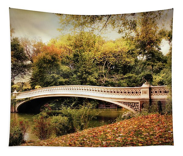 October At Bow Bridge Tapestry